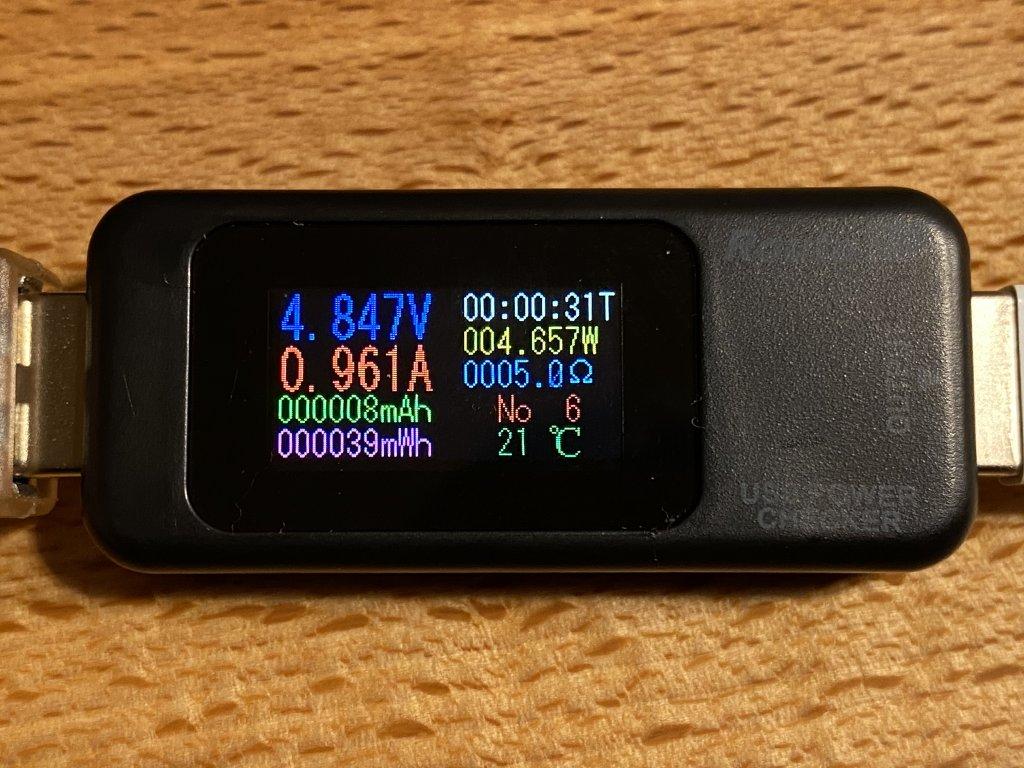 M4020 iPhone 11 Pro充電時の電流値