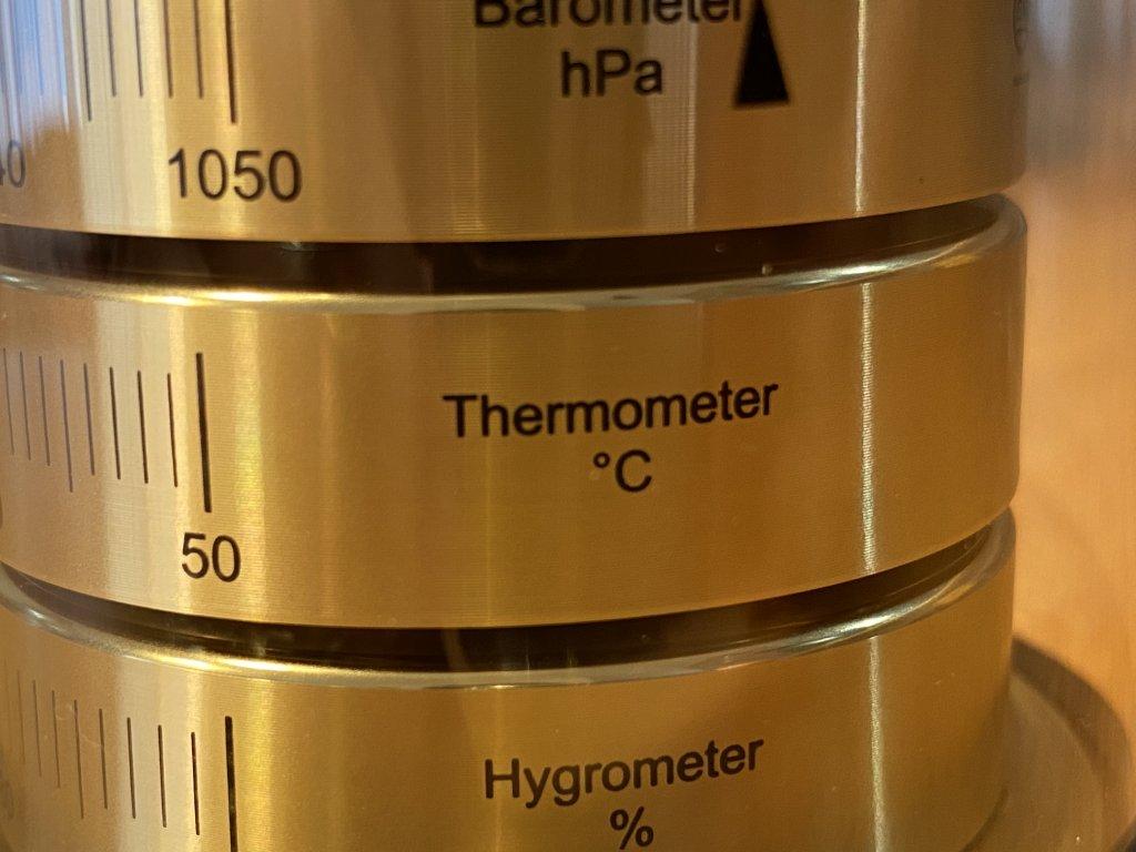 BARIGO バリゴ 温湿気圧計 温度計
