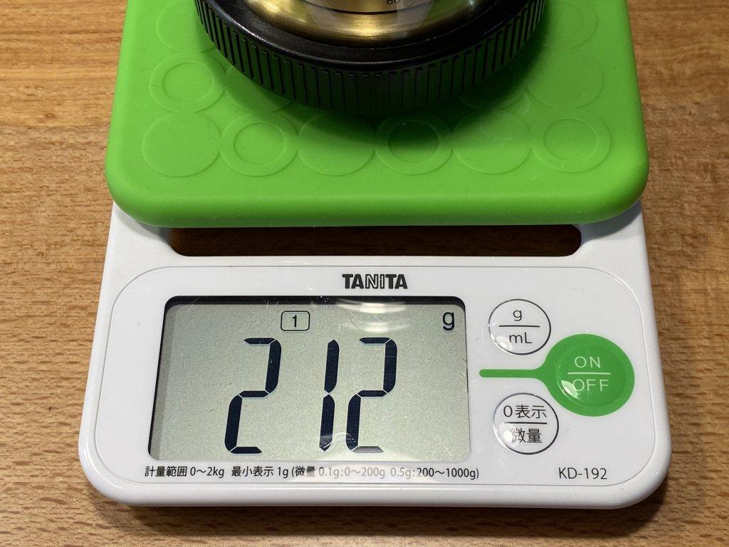 BARIGO バリゴ 温湿気圧計 重さ