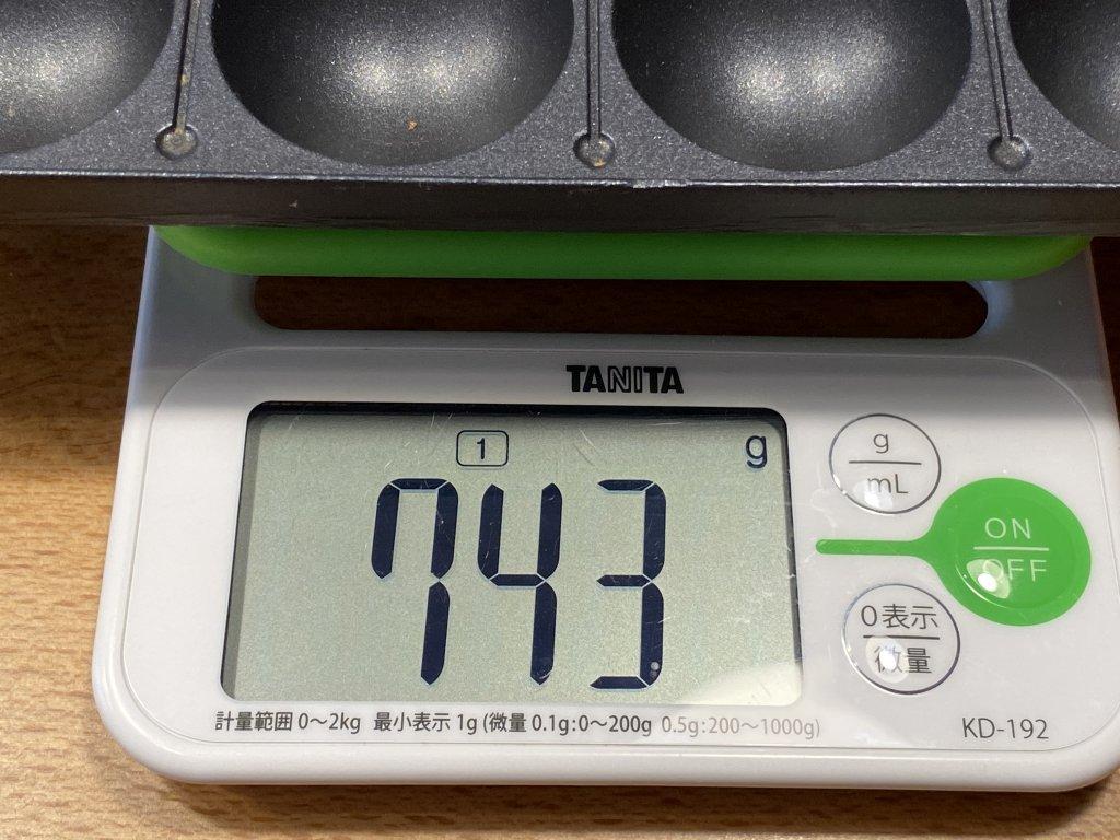 BRUNO ブルーノ コンパクトホットプレート たこ焼きプレートの重さ