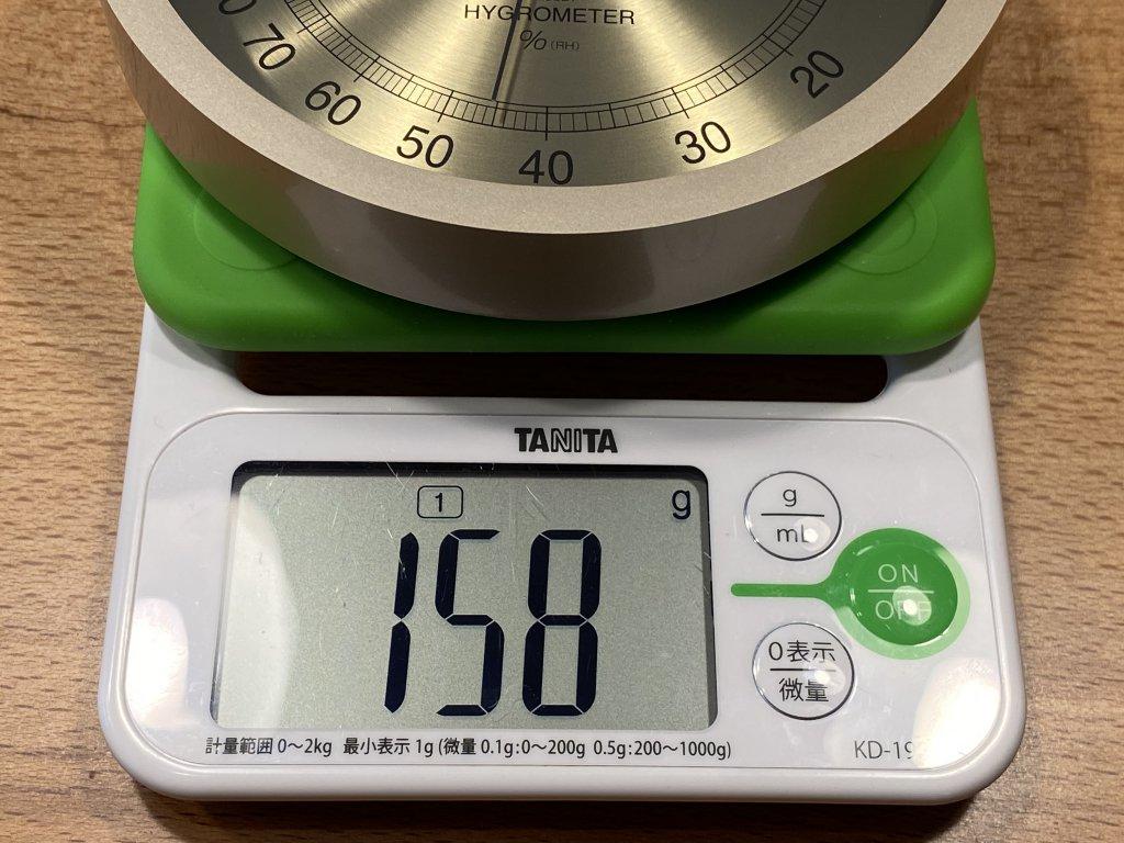 エンペックス気象計 温度湿度計 スーパーEX 重さ