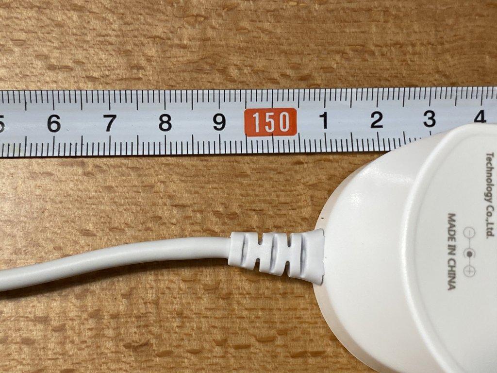 ENETREE 高速ワイヤレス充電器 EWCP01 コード長
