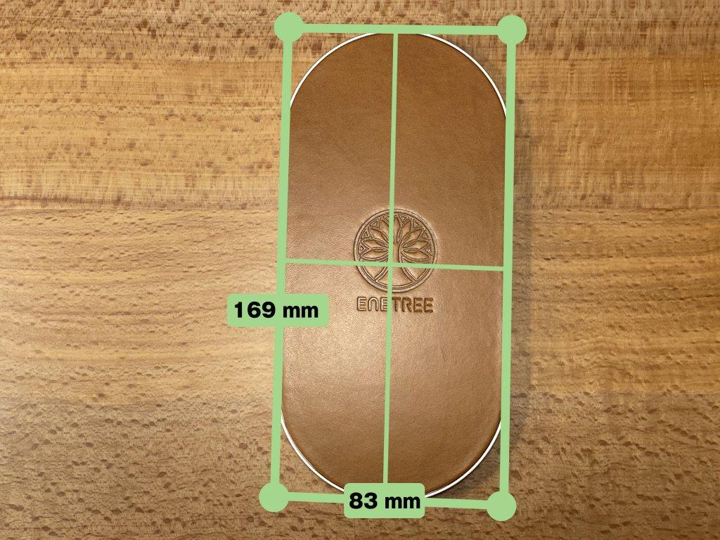 ENETREE 高速ワイヤレス充電器 EWCP01 サイズ