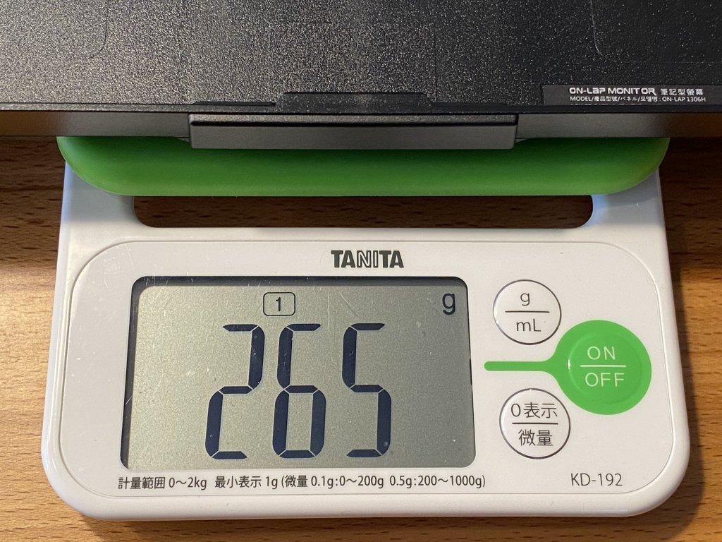 GeChic モバイルモニター On-Lap 1306H 保護カバースタンド重さ