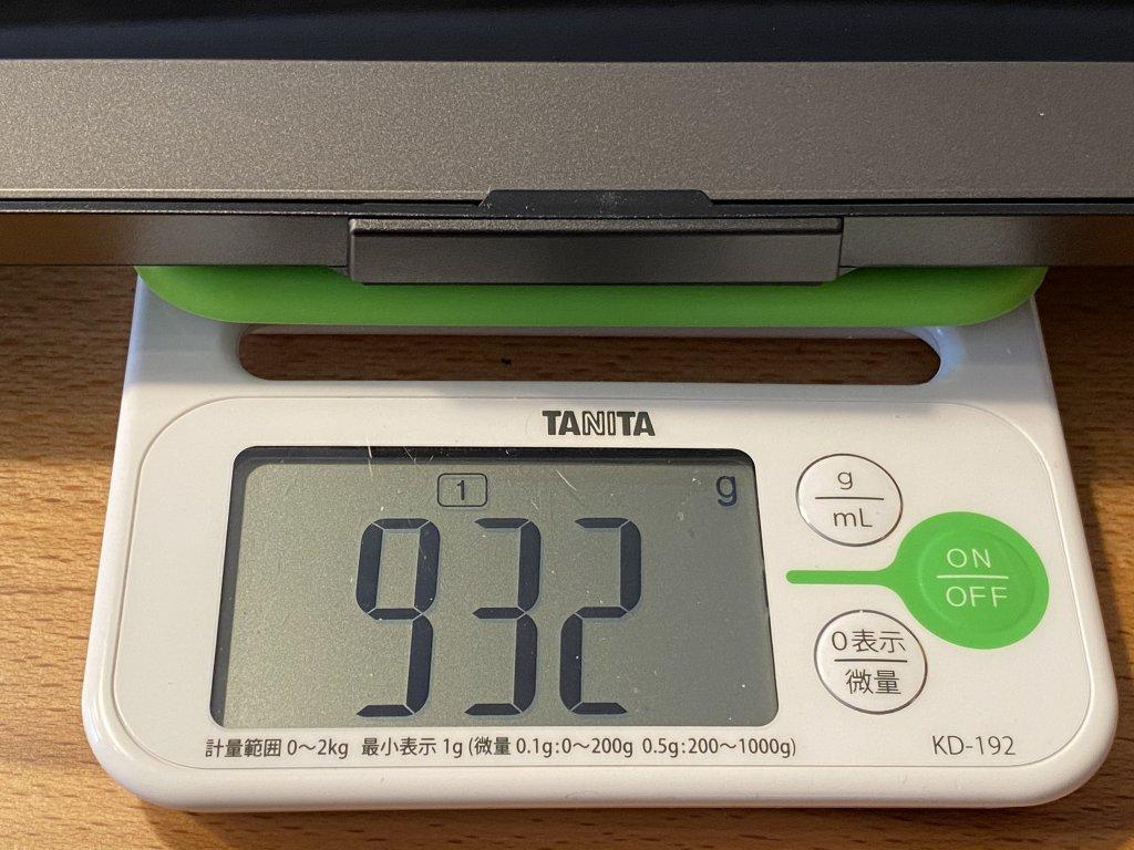 GeChic モバイルモニター On-Lap 1306H モニターと保護カバースタンドの重さ