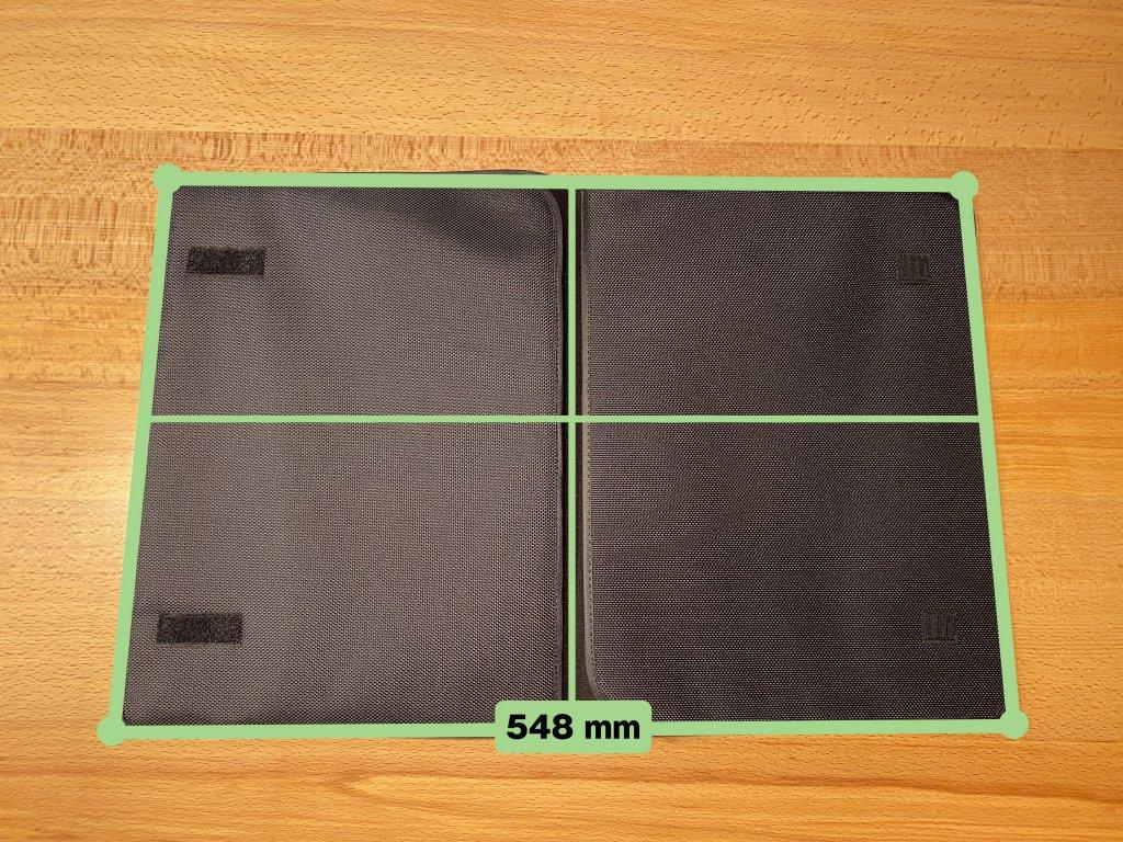 GeChic モバイルモニター On-Lap 1306H 保護ケース開いたサイズ