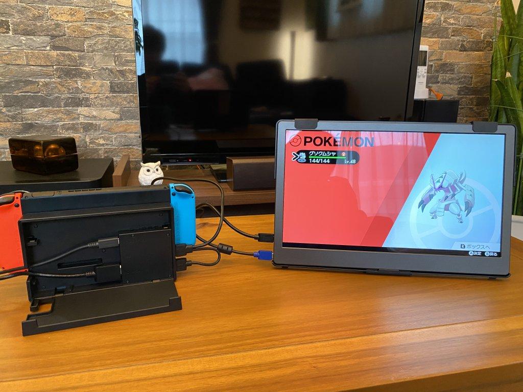 GeChic モバイルモニター On-Lap 1306H 純正ドックで接続