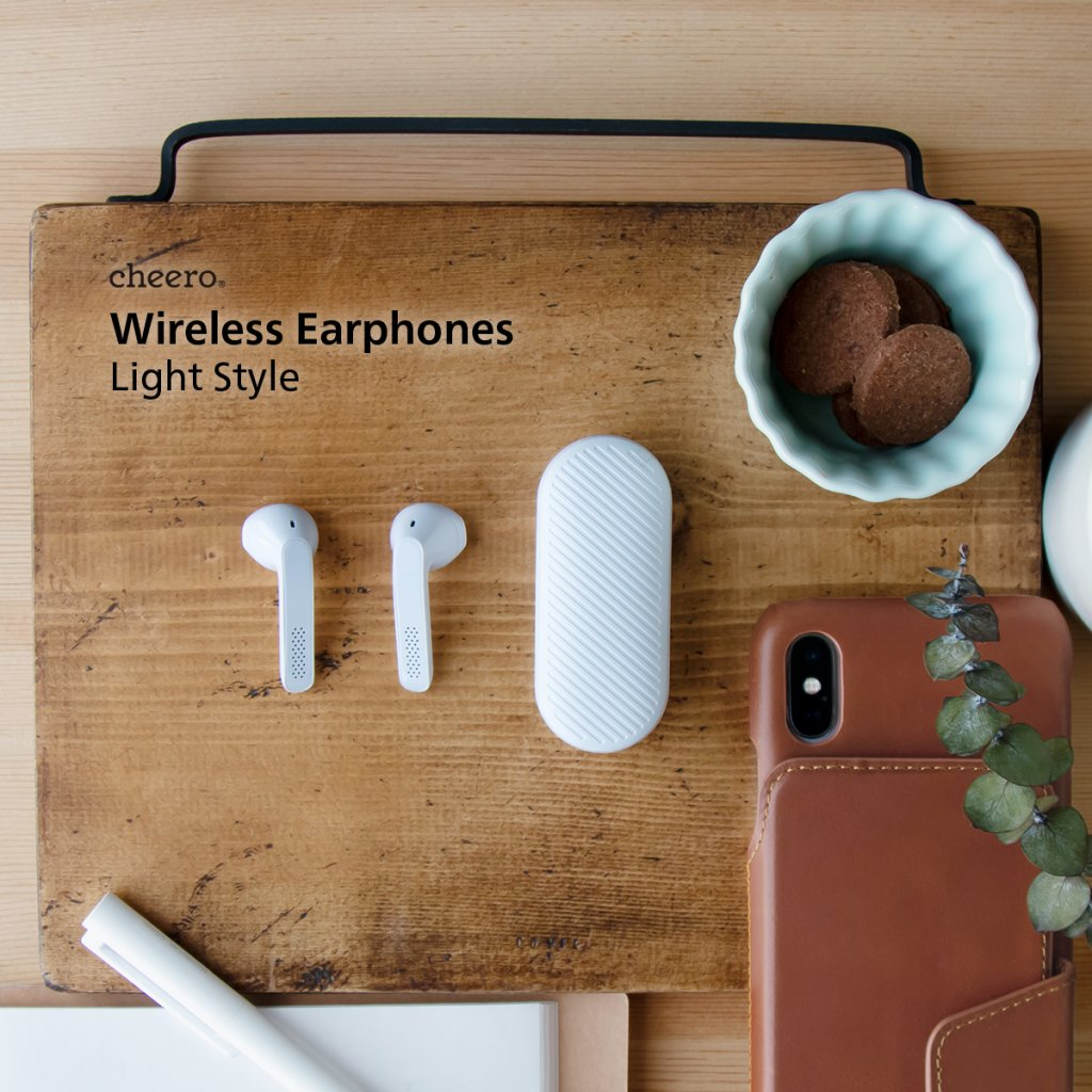 cheero Wireless Earphones Light Style デザイン