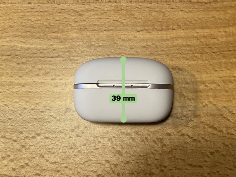 GLIDiC Sound Air TW-6000 ケース厚さ