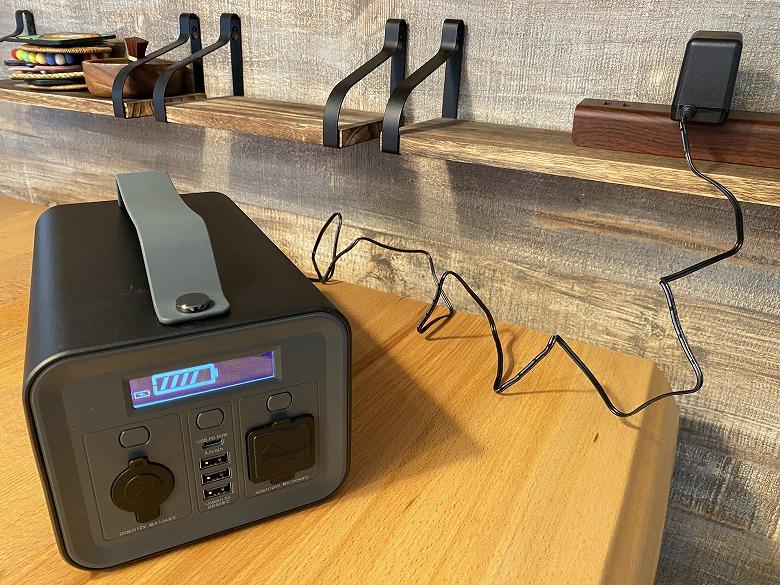 サンワダイレクト ポータブル電源 700-BTL046 ACアダプタ充電