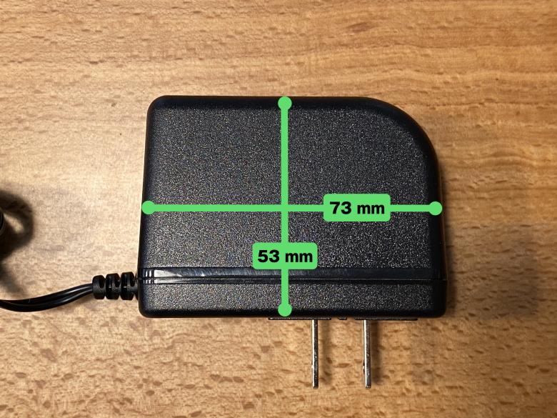 サンワダイレクト ポータブル電源 700-BTL046 ACアダプタサイズ