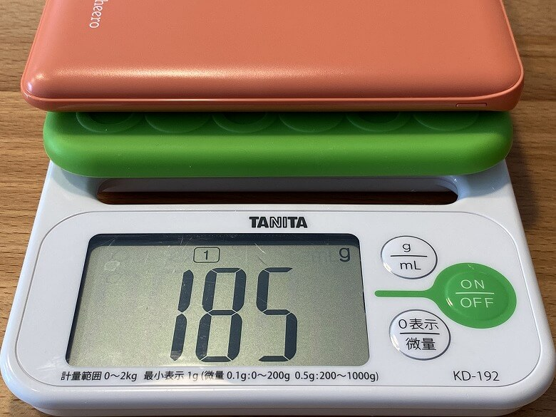 cheero Flat 10000mAh with Power Delivery 18W 重さ