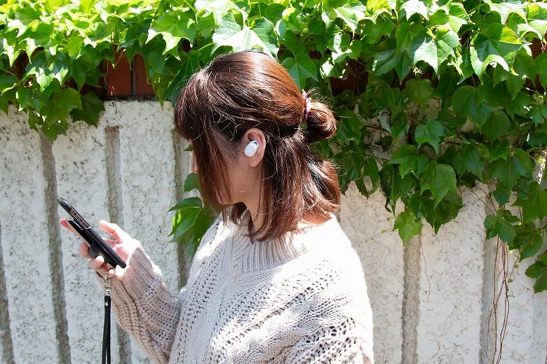 cheero Wireless Earphones Bluetooth 5.1 片耳使用
