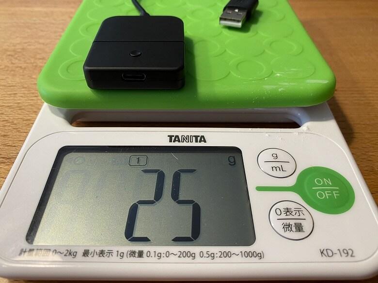 CYBER・Bluetoothオーディオトランスミッター 重さ
