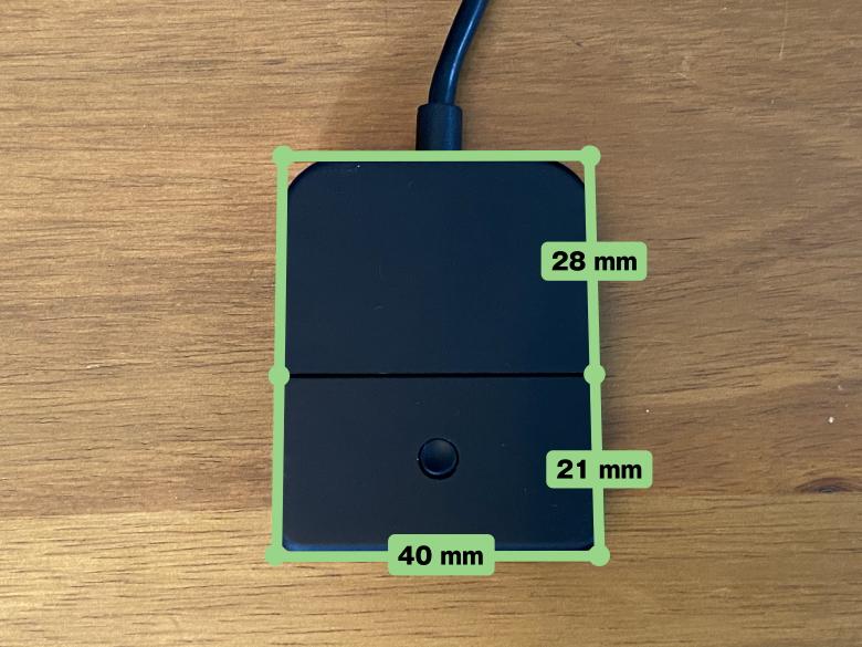 CYBER・Bluetoothオーディオトランスミッター サイズ