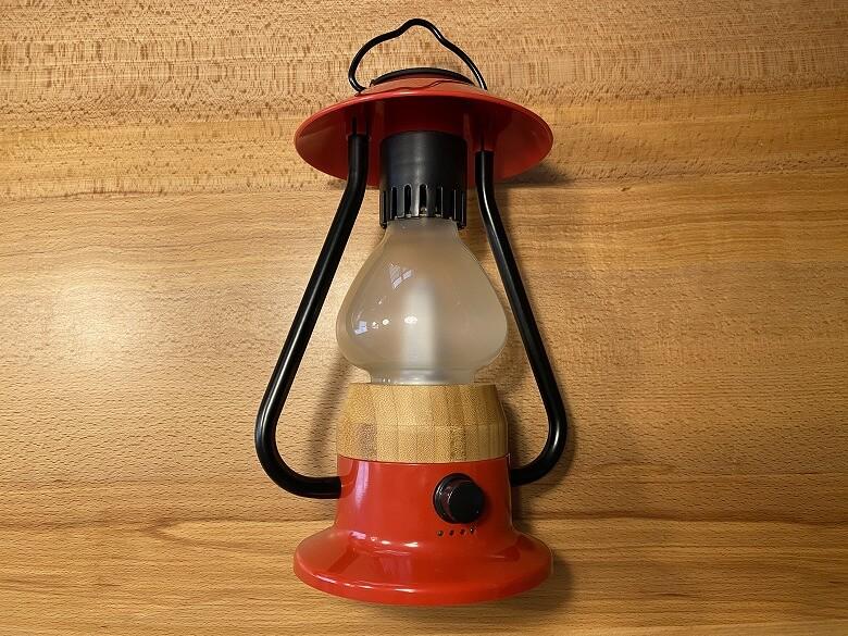 Bluetoothスピーカー付き山小屋風LEDランタン 同梱物