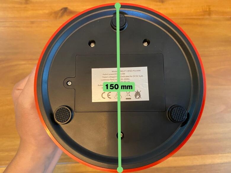 Bluetoothスピーカー付き山小屋風LEDランタン 下部直径