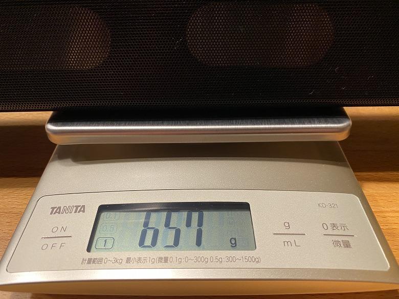 TaoTronics TT-SK025 重さ