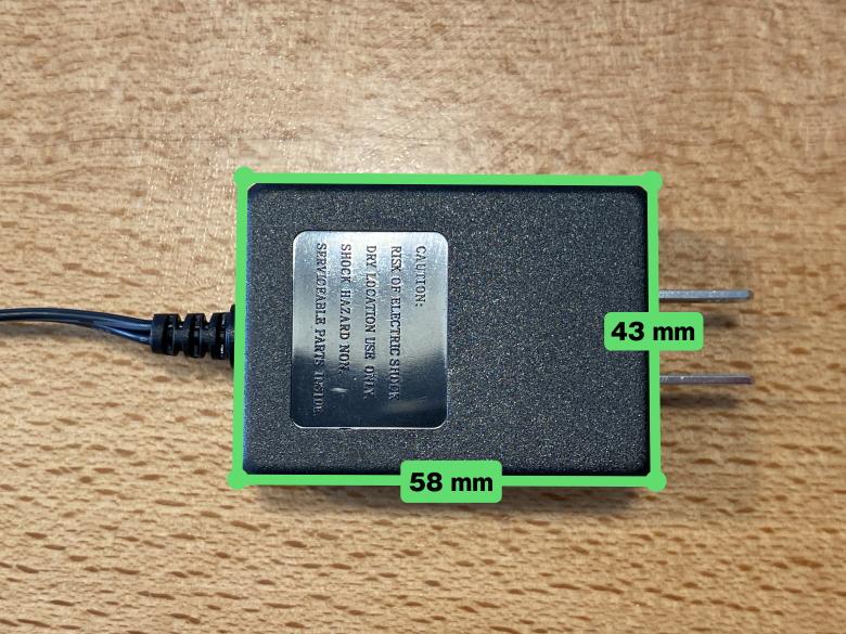 レトロフリーク コントローラーアダプターセット ACアダプターサイズ