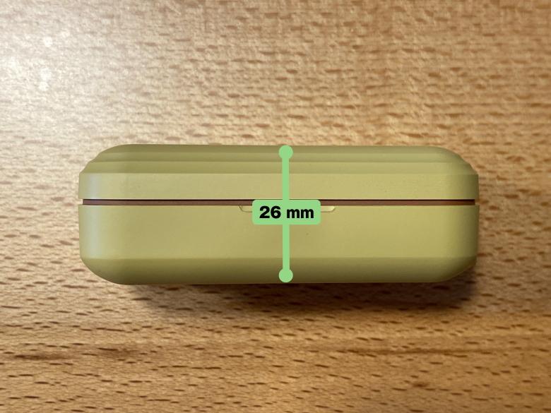 cheero DANBOARD Wireless Earphones Bluetooth 5.1 充電ケース厚さ