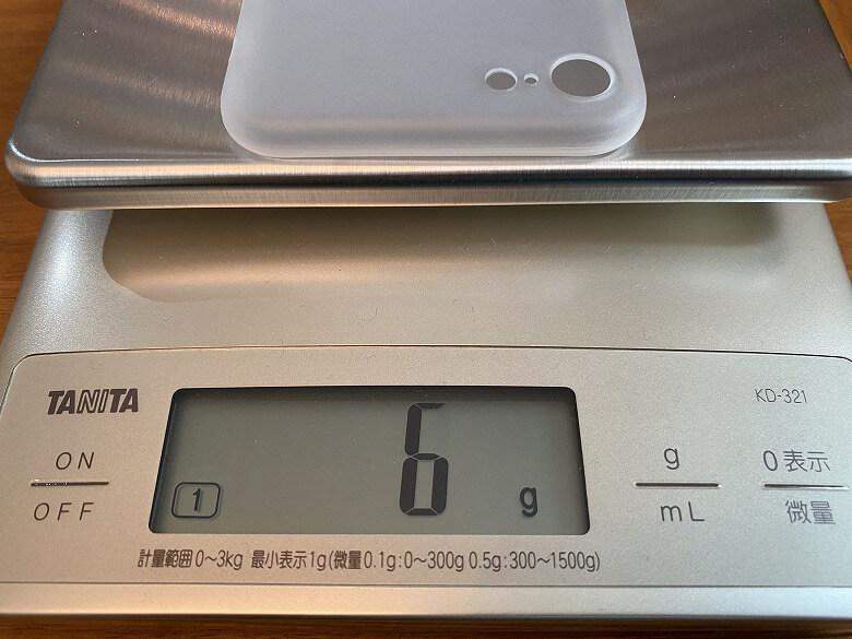CASEFINITE Frost Air iPhone 7重さ