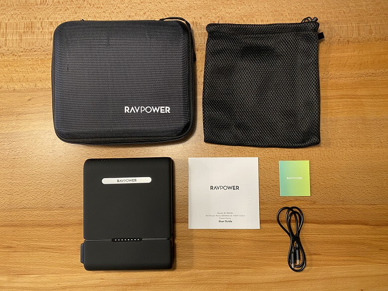 RAVPower ポータブル電源 30000mAh 同梱物