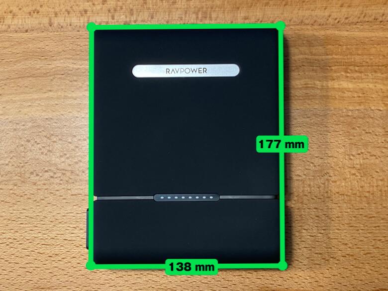 RAVPower ポータブル電源 30000mAh サイズ