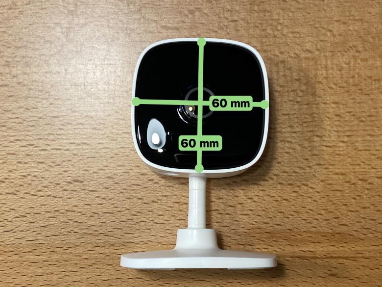 Tapo C100 カメラ部分のサイズ