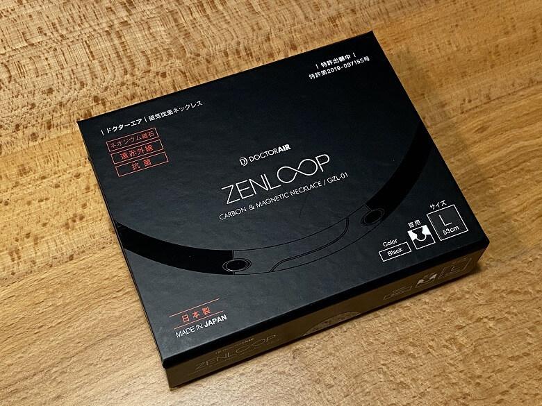 ZENLOOP 磁気炭素ネックレス 外箱