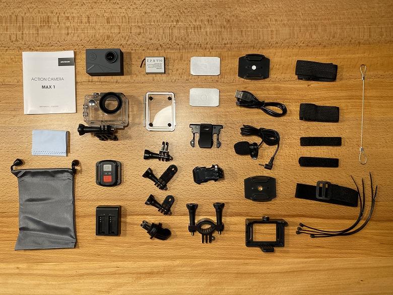 MUSON MAX1 アクションカメラ 同梱物