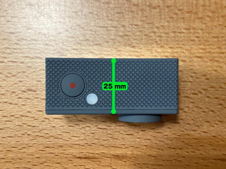 MUSON MAX1 アクションカメラ 厚さ