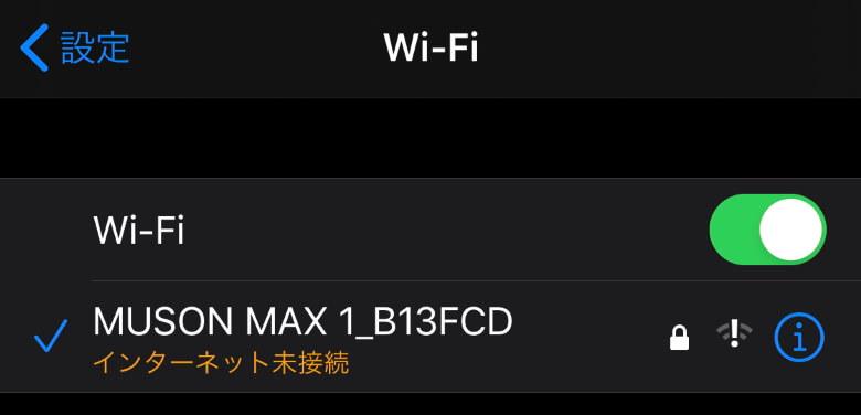 MUSON MAX1 アクションカメラ 接続成功