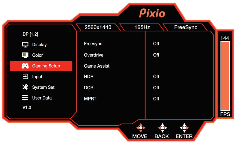 PX277 Prime Gaming Setup