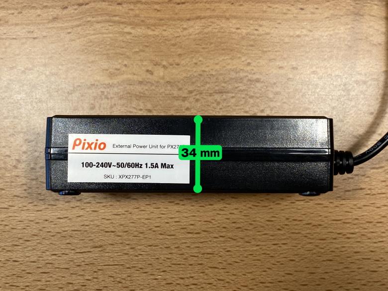 PX277 Prime 電源アダプターの厚さ