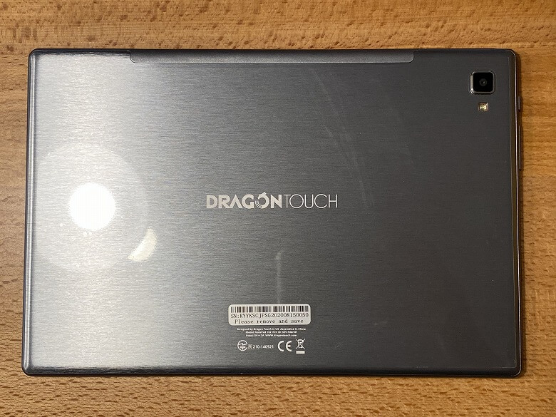 Dragon Touch NotePad 102 背面