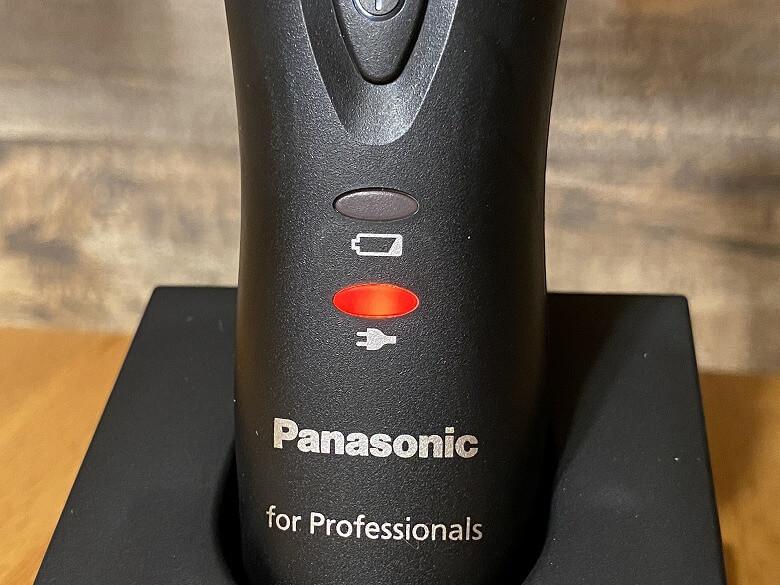 パナソニック プロリニアバリカン ER-GP82-K 充電表示・完了ランプ