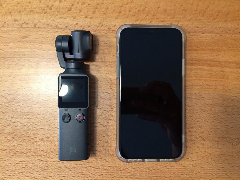 FIMI PALM 3軸ジンバルカメラ スマホと比較