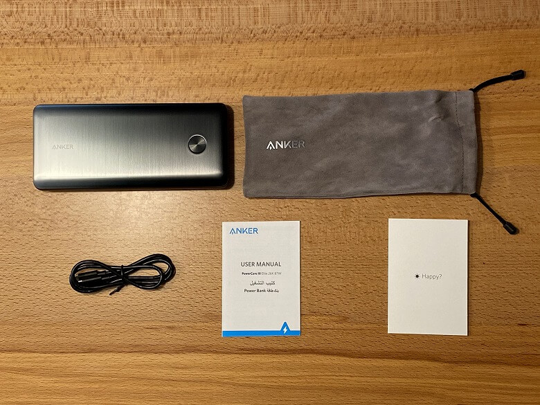 Anker PowerCore III Elite 25600 87W 同梱物