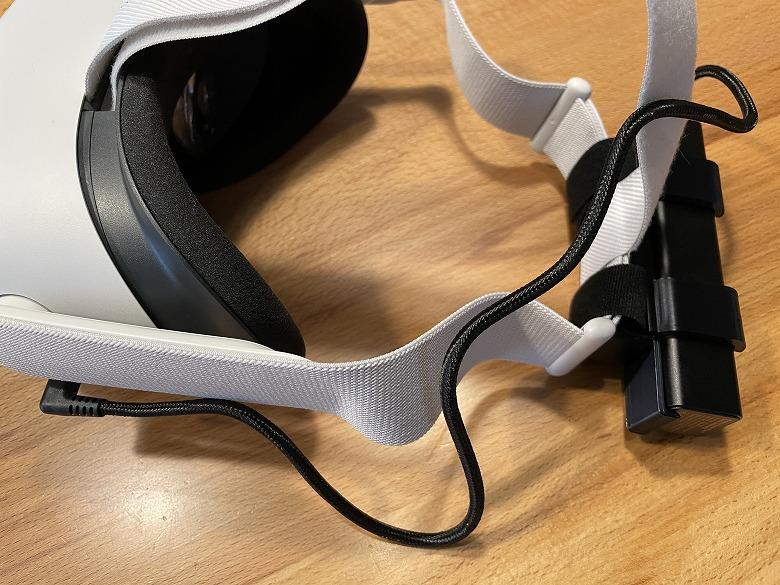 オキュラスクエスト2用バッテリーキット バックヘッドスタイル 5000mAh Oculus Quest 2と接続