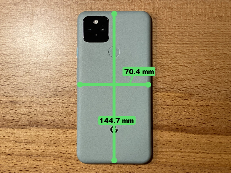 Google Pixel 5 サイズ