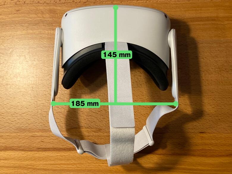 Oculus Quest 2 サイズ