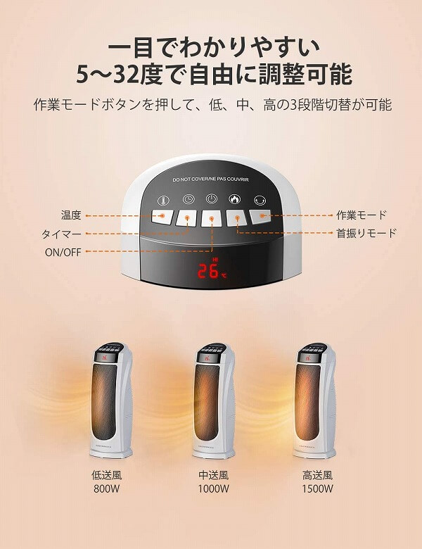 TaoTronics TT-HE004 温度調整