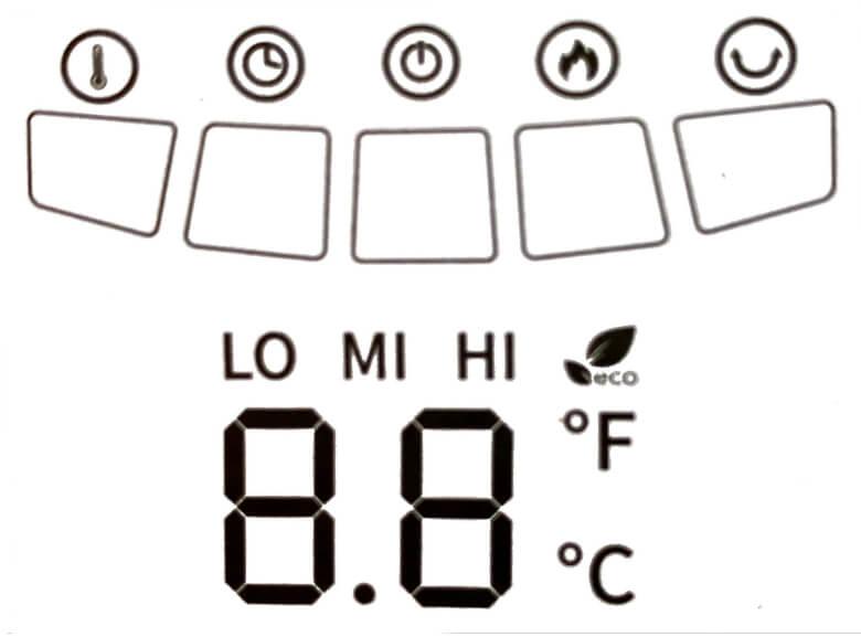TaoTronics TT-HE004 LEDディスプレイ表示