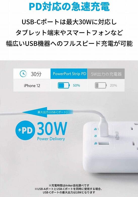 Anker PowerPort Strip PD 6 PD対応