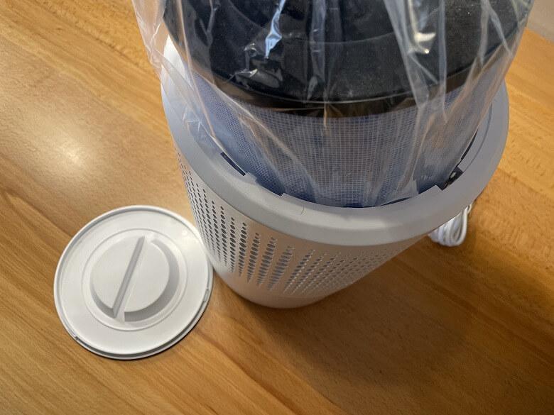Elechomes 空気清浄機 梱包されたフィルター