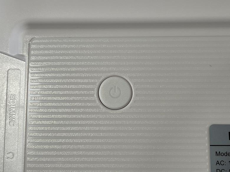 Dragon Touch Classic 10 電源ボタン