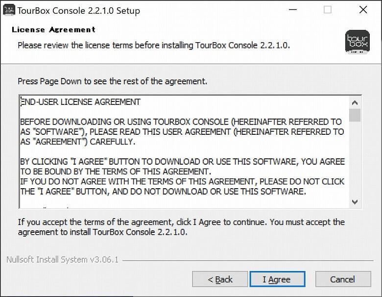 TourBox NEO ソフトウェア利用許諾契約