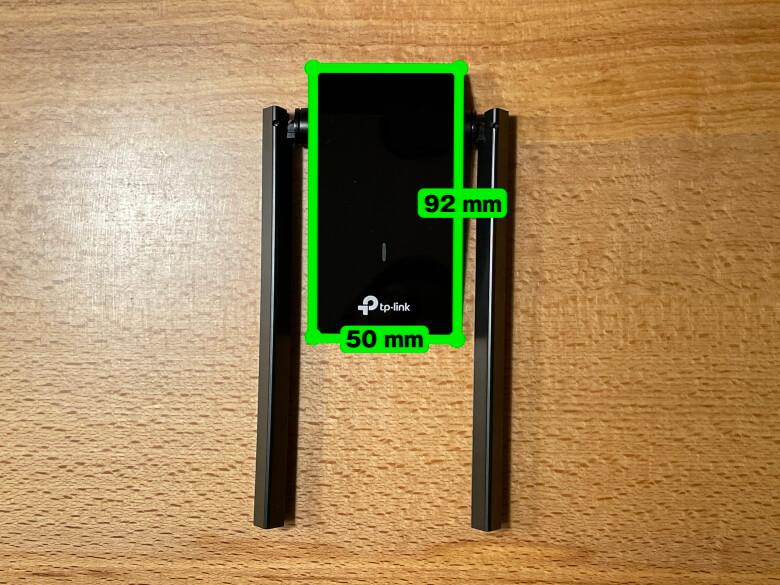 TP-Link Archer T4U Plus サイズ
