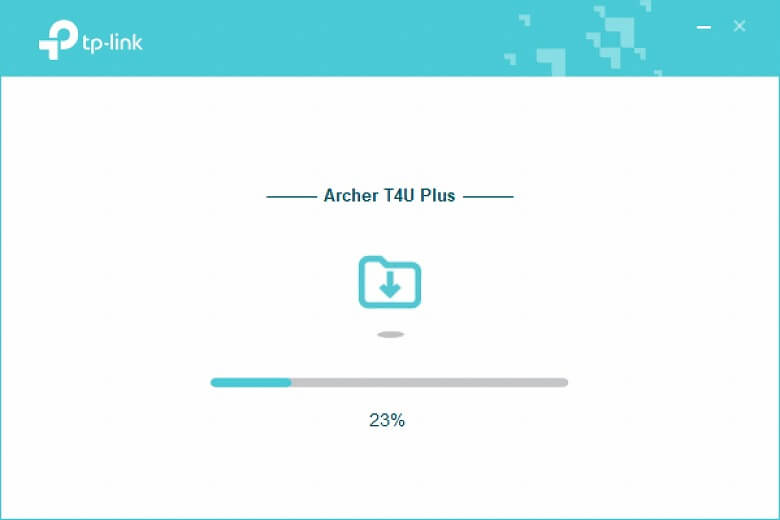 TP-Link Archer T4U Plus インストール中