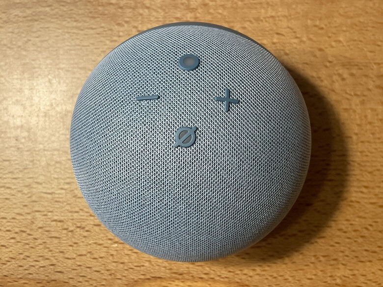 Amazon Echo Dot 第4世代 上から見たところ